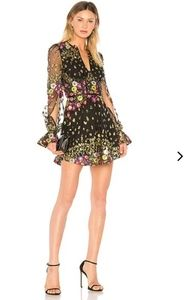NWT Lovers + Friends embroidered sequin Kensington dress size S